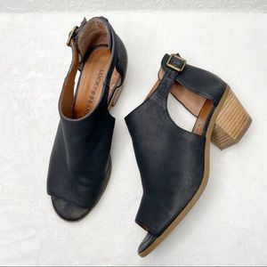 LUCKY BRAND Barimo Black open toe Booties. Size 8
